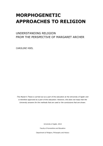 MORPHOGENETIC APPROACHES TO RELIGION