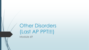 Other Disorders (Last AP PPT!!!)