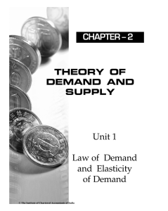 Unit 1 Law of Demand and Elasticity of Demand