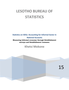 Statistics on SDGs: Accounting for Informal Sector in National