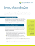 Co-occurring Disorders: Drug Abuse And Mental Health