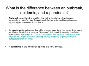 What is an outbreak?