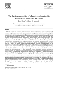 The chemical composition of subducting sediment and its
