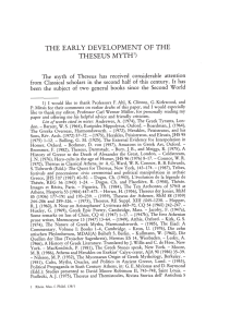 THE EARLY DEVELOPMENT OF THE THESEUS MYTH1