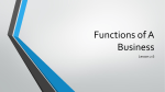 Functions of A Business