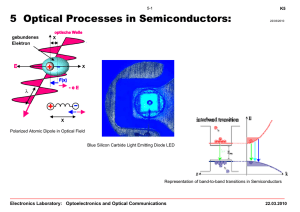 Chapter 5: Optical Processes in Semiconductors