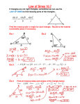 Law of Sines 10.7