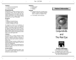 Conjunctivitis and The Red Eye