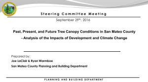 Past, Present, and Future Tree Canopy Conditions in San Mateo