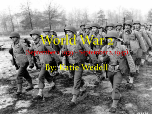 World War 2 (September 1, 1939 * September 2, 1945)