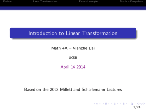 Introduction to Linear Transformation