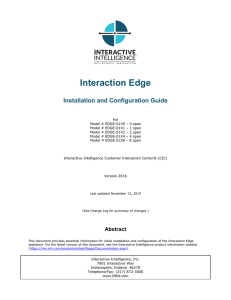 Interaction Edge Installation and Configuration Guide