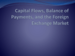 Capital Flows, Balance of Payments, and the Foreign Exchange