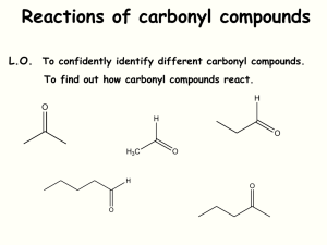 Carbonyl Compounds_ Properties and Reactions