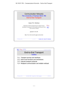 End-to-End Communication - ITTC