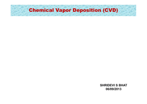 Chemical Vapor Deposition (CVD)