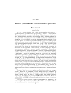 Several approaches to non-archimedean geometry