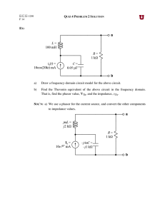 EX: a) Draw a frequency-domain circuit model for the above circuit. b