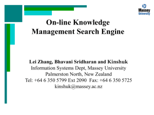 On-line Knowledge Management Search Engines