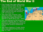 The End of World War II