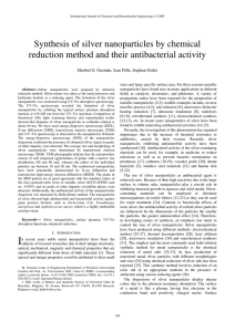 Synthesis of silver nanoparticles by chemical reduction method and