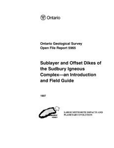 Sublayer and Offset Dikes of the Sudbury Igneous
