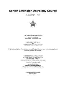 Senior Extension Astrology Course