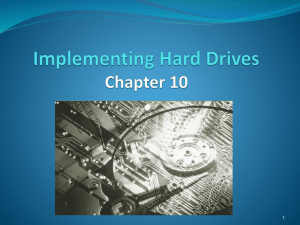Implementing hard drive.