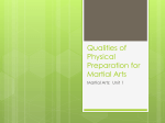 Qualities of Physical Preparation for Martial Arts