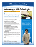 Networking or Web Technologies