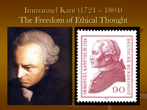 "immanuel kants views on the morality of the case of oregons death with dignity Kant's moral law theory with particular reference to the categorical imperative [30] by hannah parry-evans ""two things fill the mind with ever new and increasing admiration and awe the oftener and more steadily we reflect on them: the starry heavens above me and the moral law within me"" – kant (1788), pp, 193, 259 immanuel kant introduced."