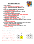 Brainpop Genetics questions Weinmann ANSWERS