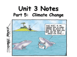 Unit 3 Notes Part 4: Climate Change