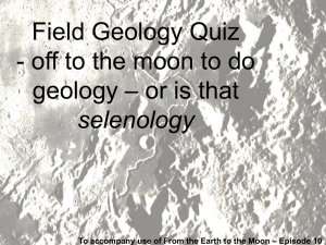 Lunar Field Geology Quiz