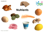 Nutrients PowerPoint - Food a fact of life