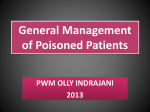 General Management of Poisoned Patients