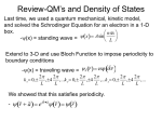 Review-QM`s and Density of States