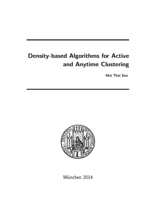 Density-based Algorithms for Active and Anytime Clustering