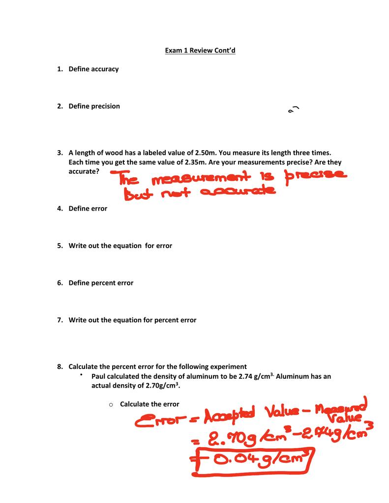 Worksheet Precision And Accuracy Worksheet Worksheet Fun Worksheet