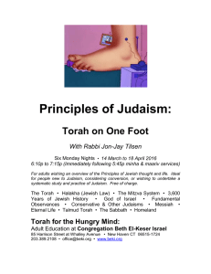 Principles of Judaism - Congregation Beth El–Keser Israel