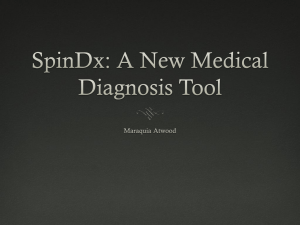 SpinDx: A New Medical Diagnosis Tool