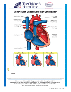 VSD - Children`s Heart Clinic