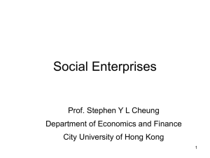 Social Enterprises and Social Entrepreneurship