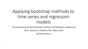 Applying bootstrap methods to time series and regression models