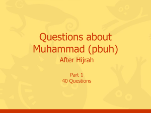 Questions, Muhammad, Part #6