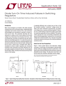 AN122 Diode Turn-On Time Induced Failures in Switching Regulators
