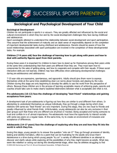 Sociological and Psychological Development of Your Child