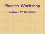 Phonics Workshop - Longfield Primary School