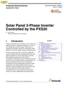 Solar Panel 3-Phase Inverter Controlled by the PXS20