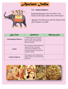 Ancient India 5.4 Answers